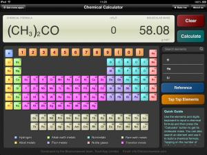 ChemCalc ipad app