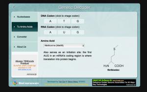 Genetic decoder